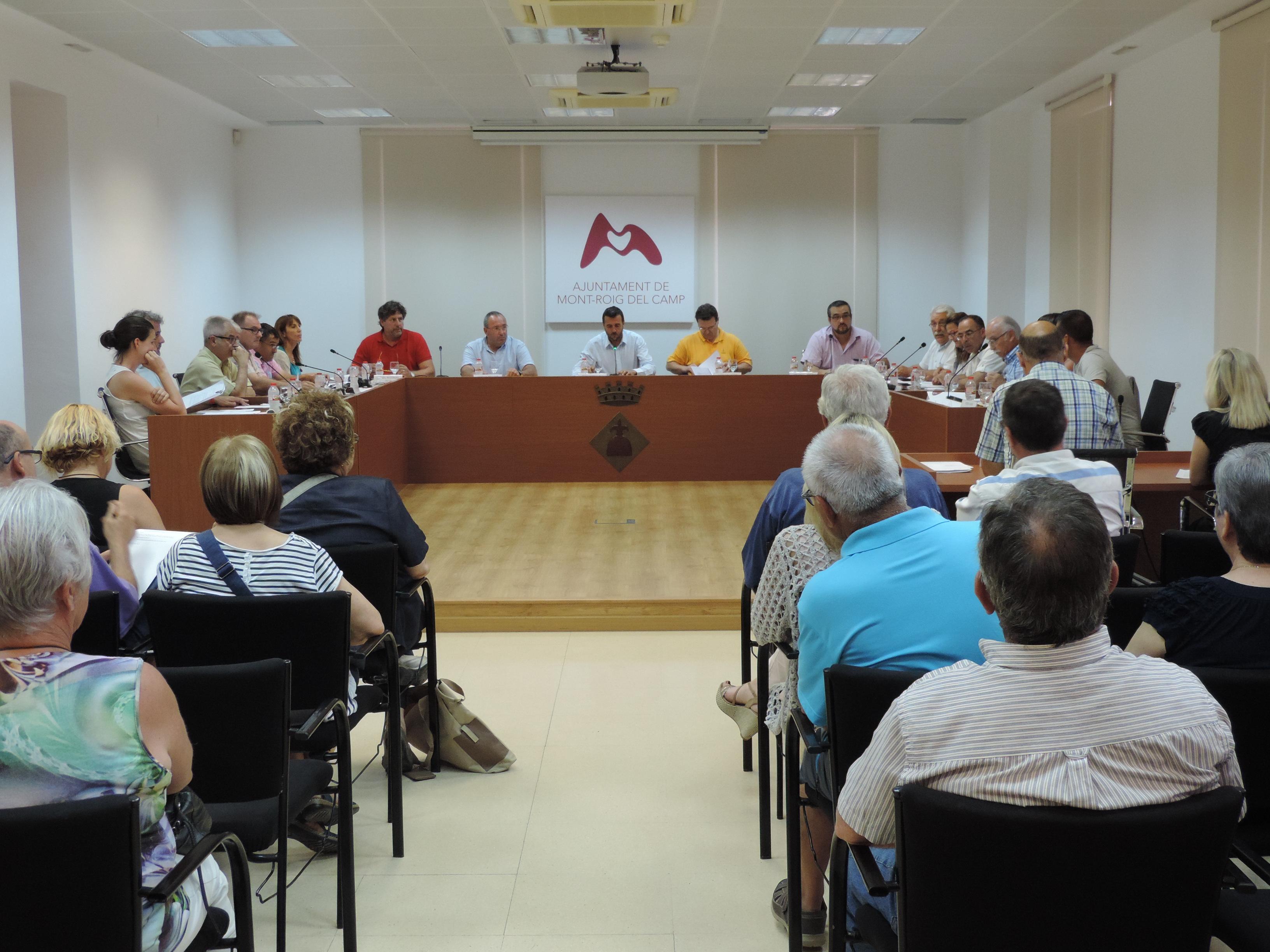 Pleno de organización del Ayuntamiento de Mont-roig del Camp