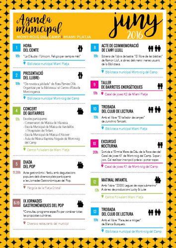 Agenda juny 2016 Ajuntament de Mont-roig del Camp