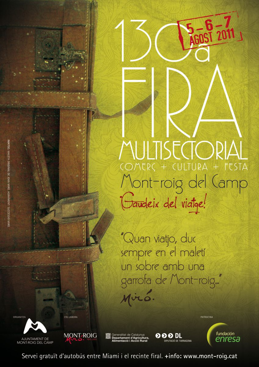Cartell Fira Mont-roig del Camp 2011