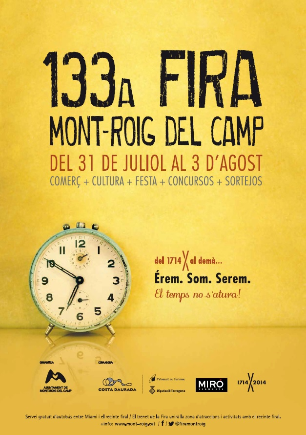 Cartell Fira Mont-roig del Camp 2014