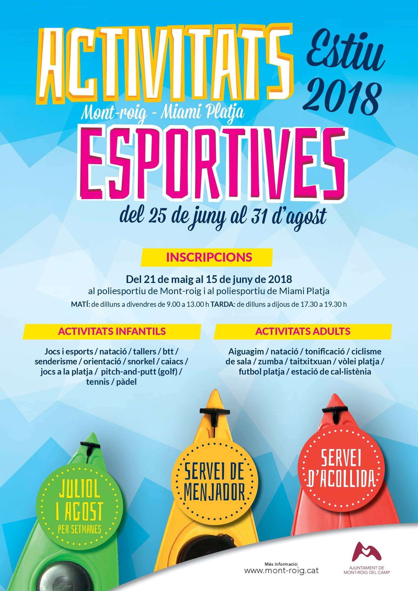Cartel Act Deportivas 2018