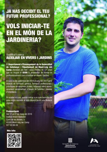 PTT Auxiliar en Vivers i Jardins