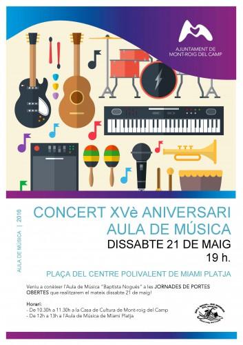 Cartell Concert Aniversari Aula de Música