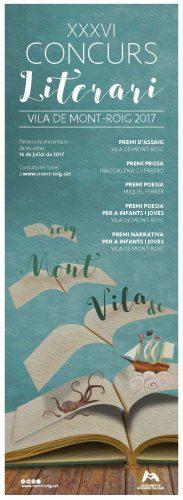 Cartell Concurs Literari Vila de Mont-roig 2017