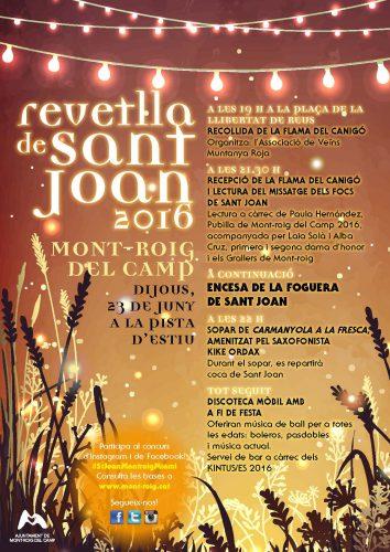 Cartell Sant Joan 2016_Mont-roig del Camp