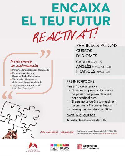 Cartell inscripcions cursos idiomes