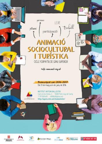 Cartell Animacio sociocultural i turística