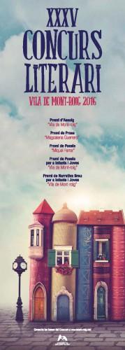 Cartell Concurs Literari Vila de Mont-roig 2016