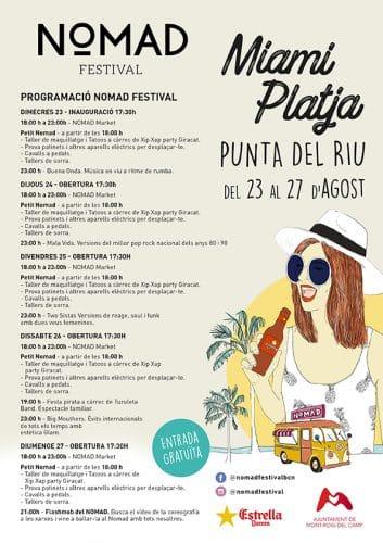 Vuelve El Nomad Festival En Miami Platja Del 23 Al 27 De Agosto Ajuntament De Mont Roig Del Camp