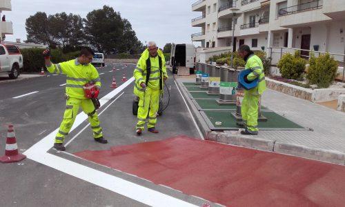Treballs de senyalització del passeig Marítim