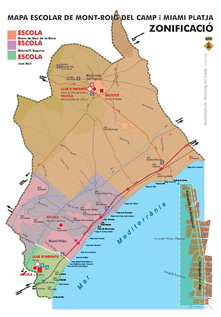 Mapa escolar Mont-roig i Miami
