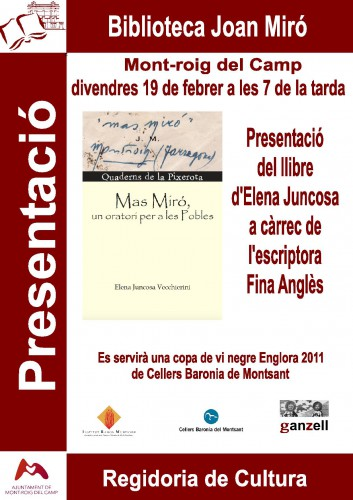 Presentació llibre Mas Miró