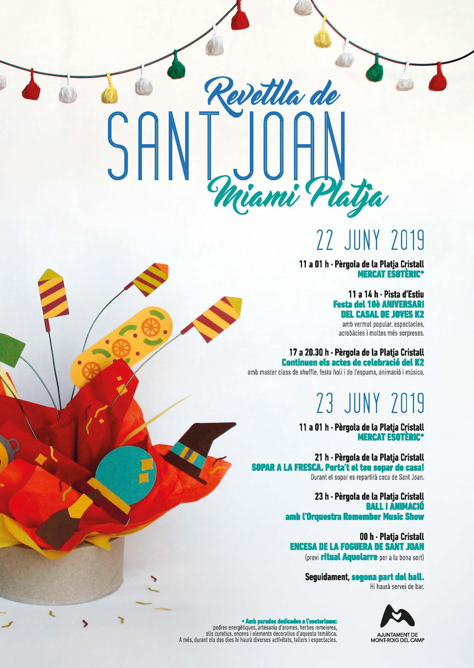 Todo Listo Para Celebrar La Verbena De San Juan En Mont Roig Y En Miami Platja Ajuntament De Mont Roig Del Camp