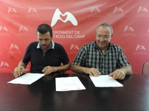 Signatura conveni Ajuntament i Nostraigua