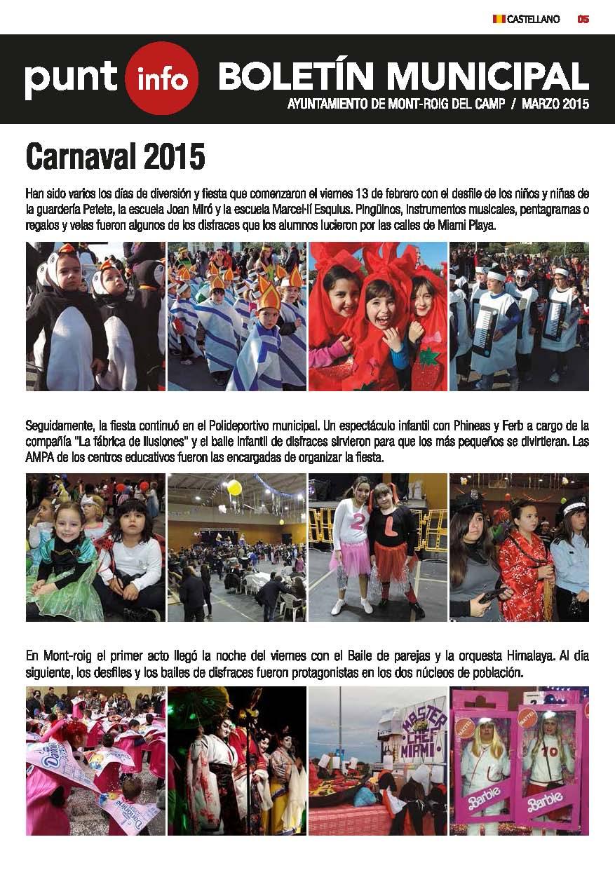 Boletín informativo marzo 2015