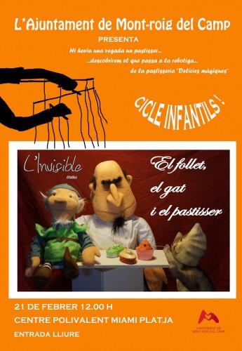 """Espectacle """"El follet, el gat i el pastisser"""""""