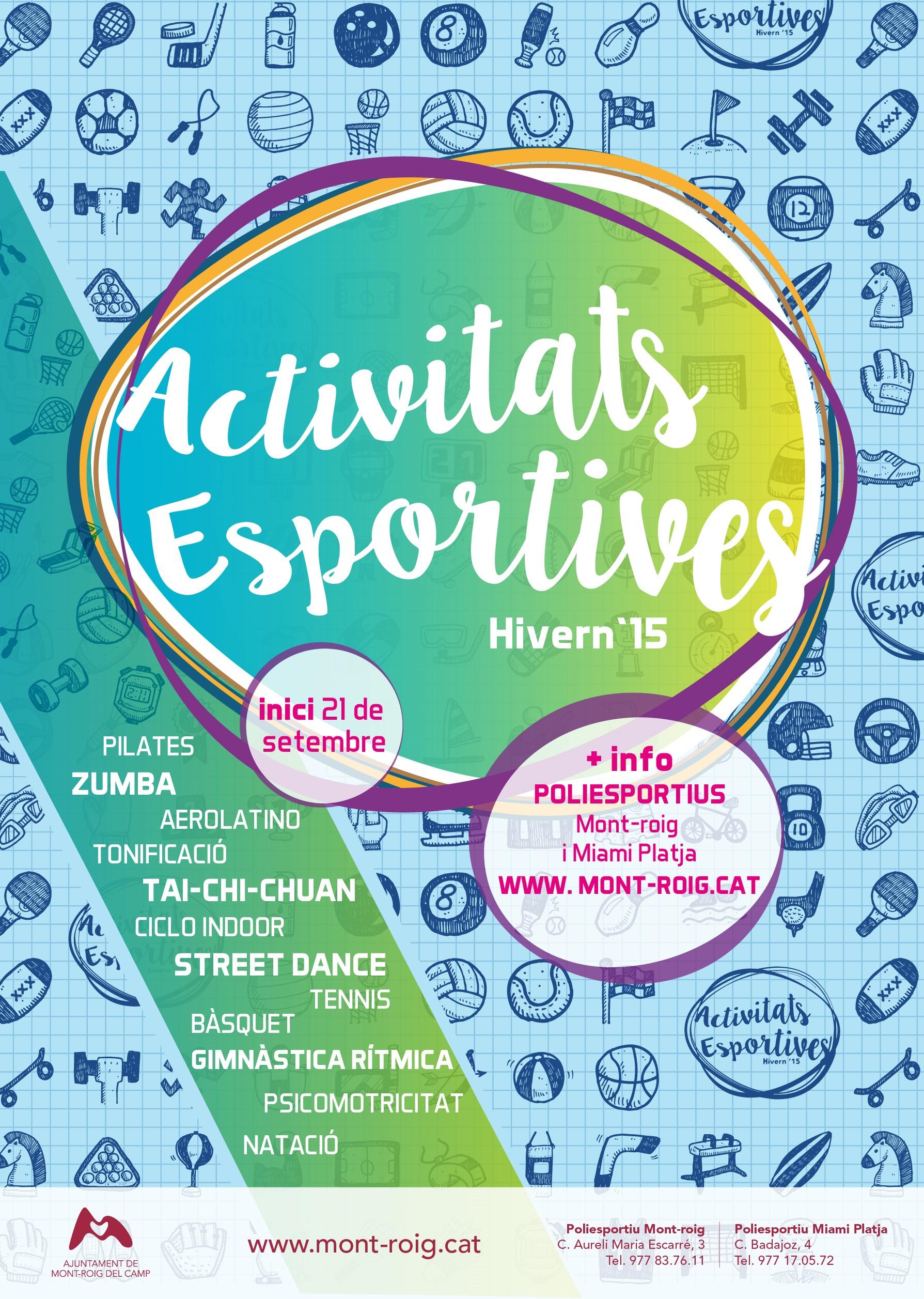 Activitats esportives 2015-2016