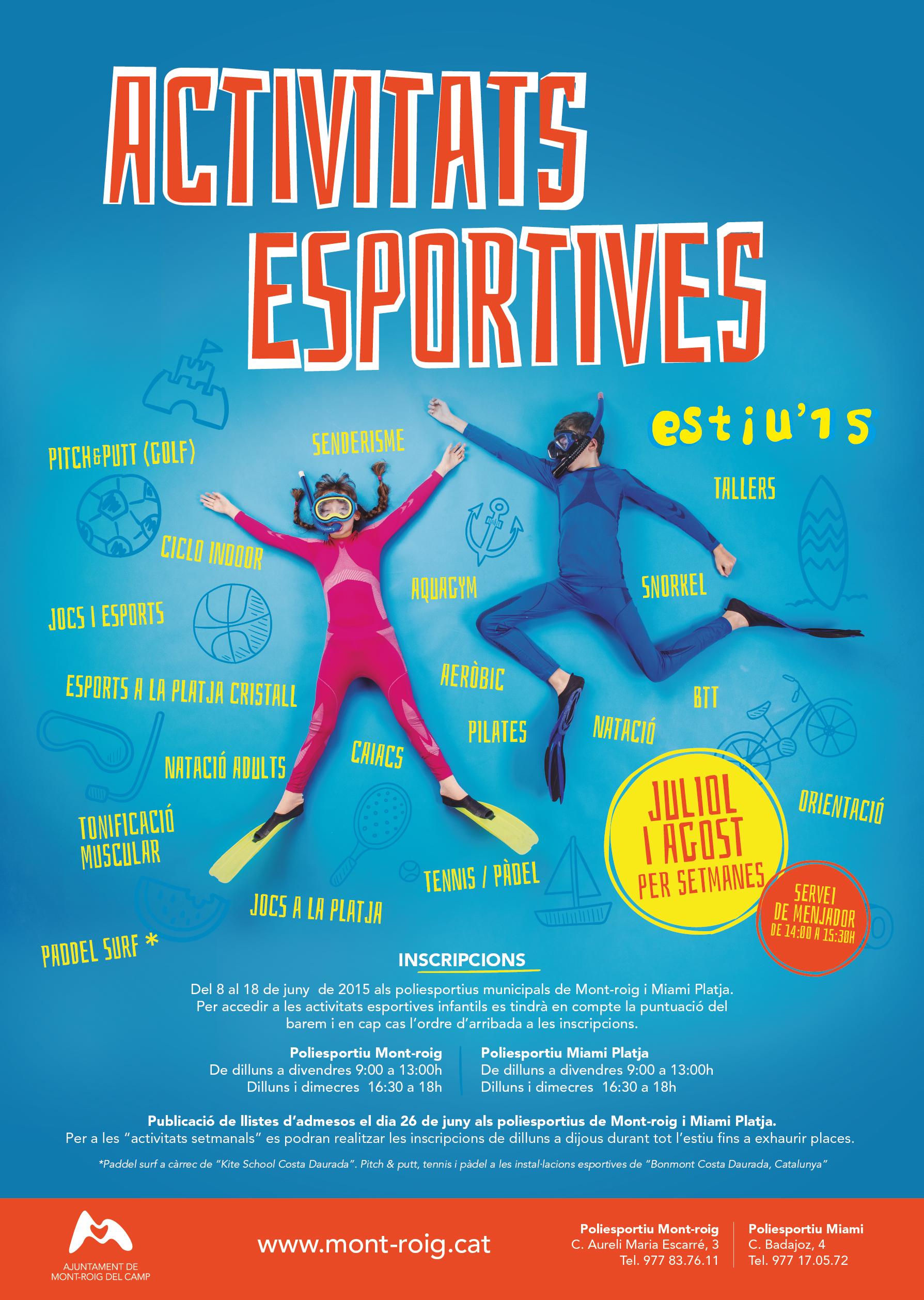 Activitats esportives estiu'15