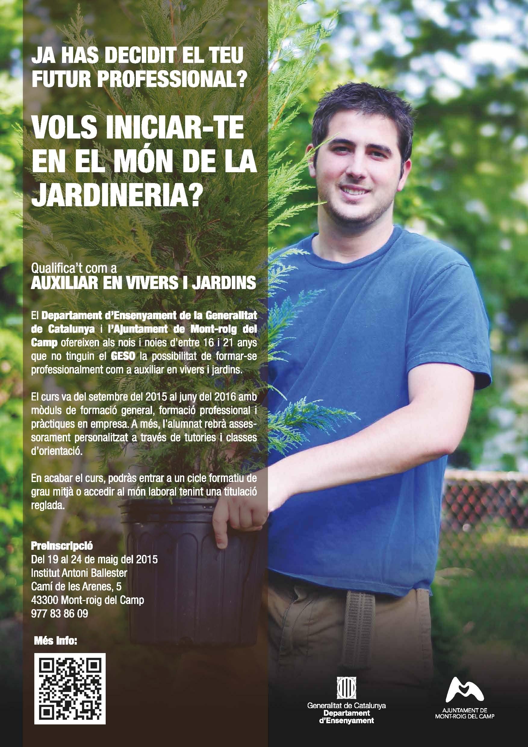 PTT de Auxiliar en viveros y jardines