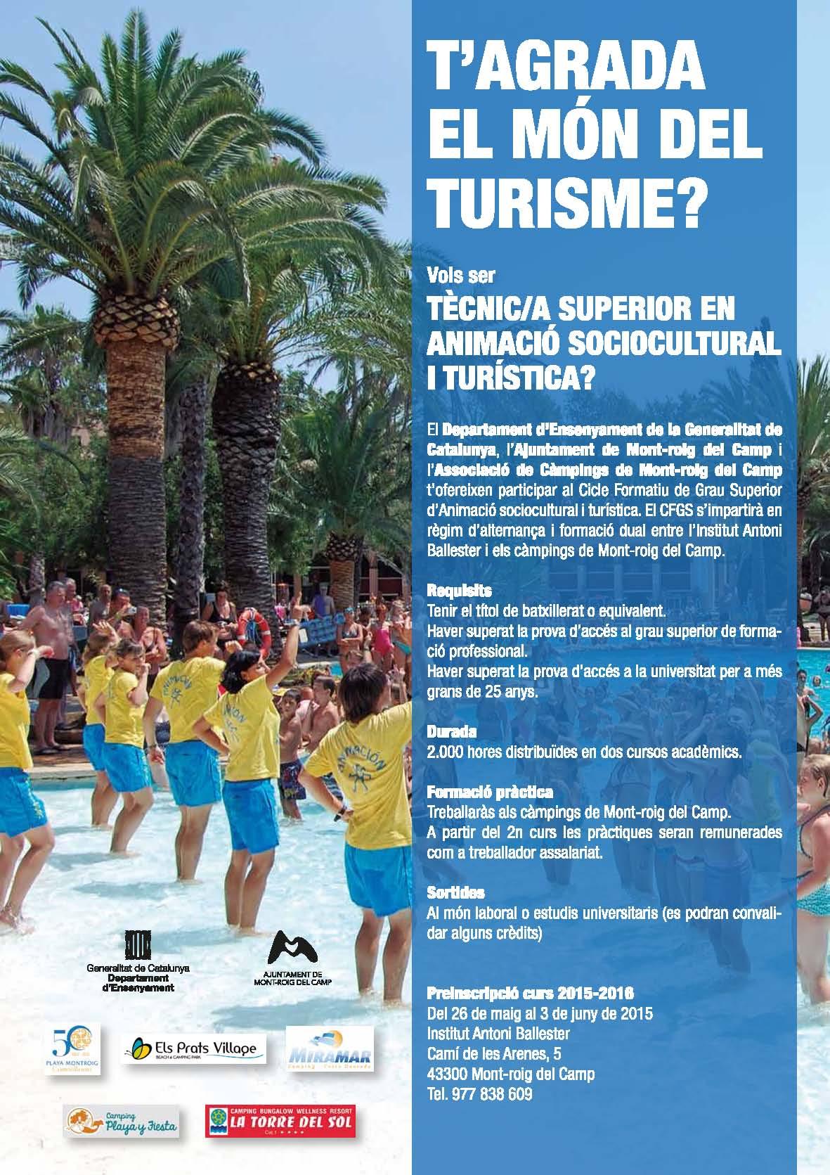 CFGS d'Animació sociocultural i turística especialitzat en càmpings