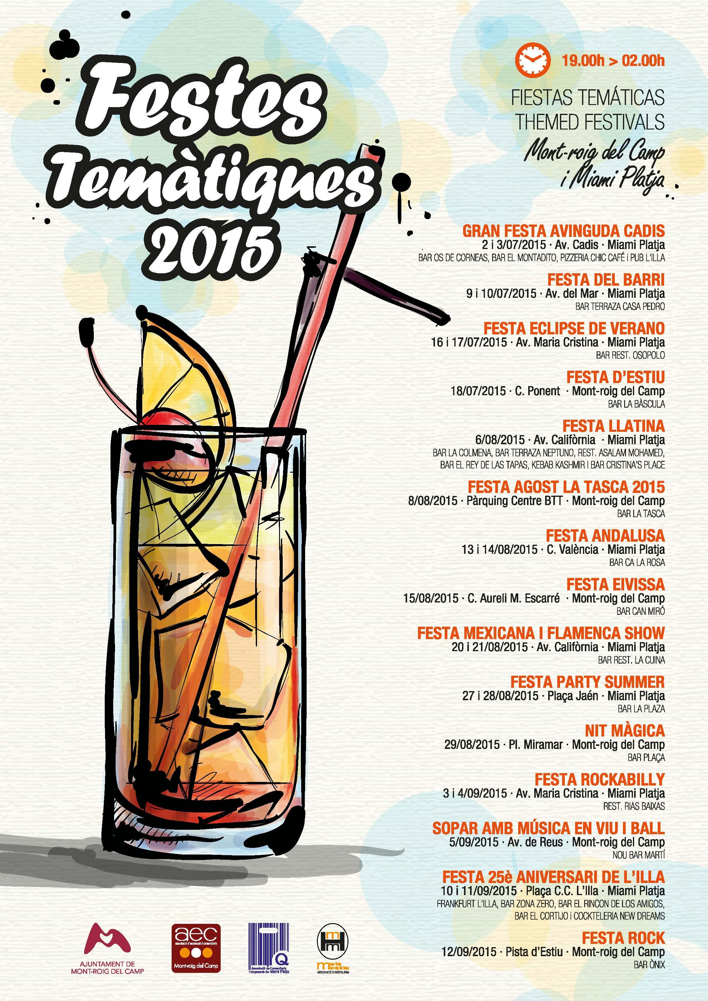 Festes temàtiques 2015