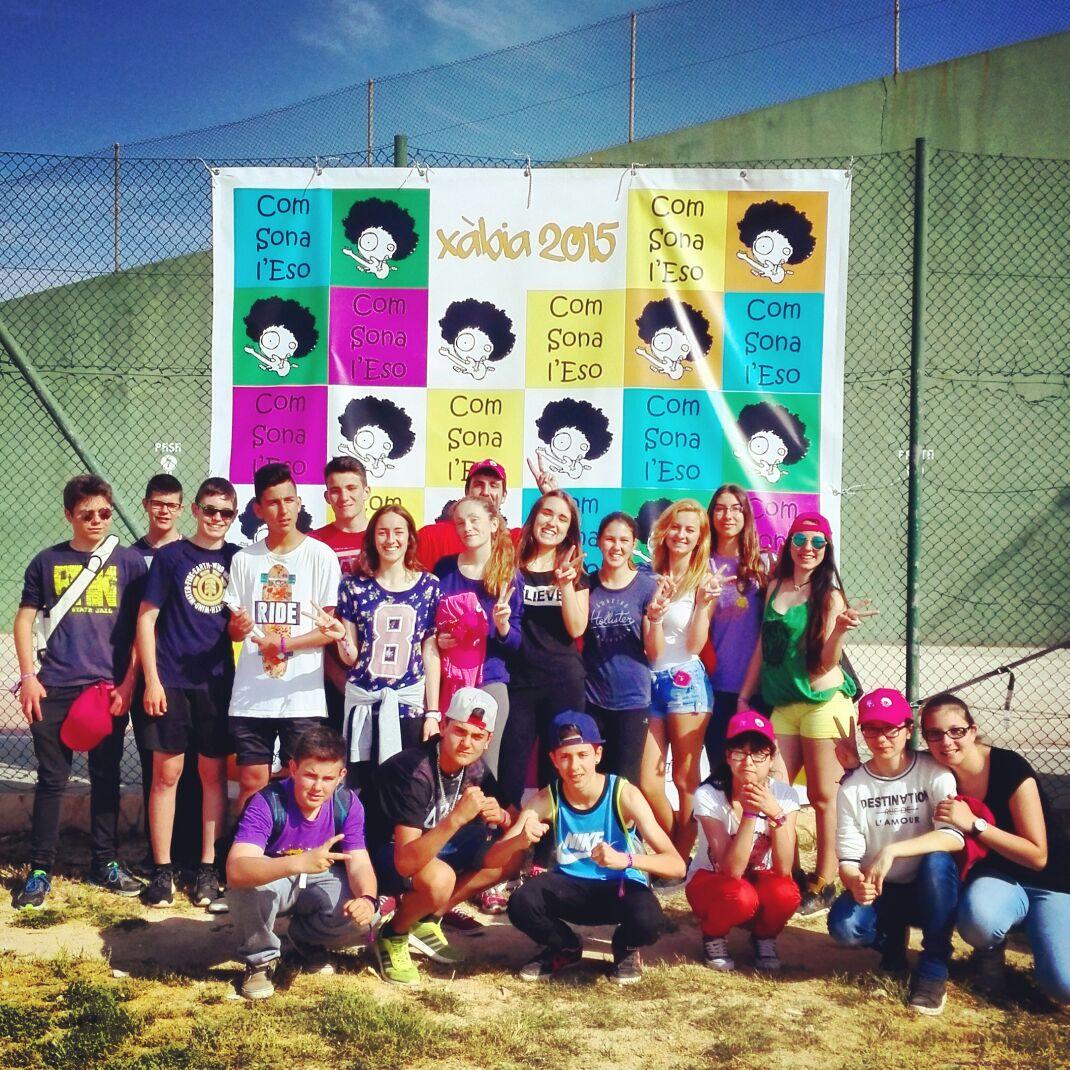 """Els alumnes de l'Institut de Miami al photocall de """"Com sona l'ESO"""""""