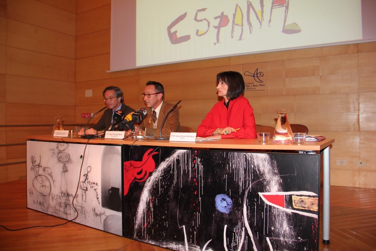 """Acto de renuncia de los derechos que corresponden a los herederos de Joan Miró en relación al logotipo """"España"""""""