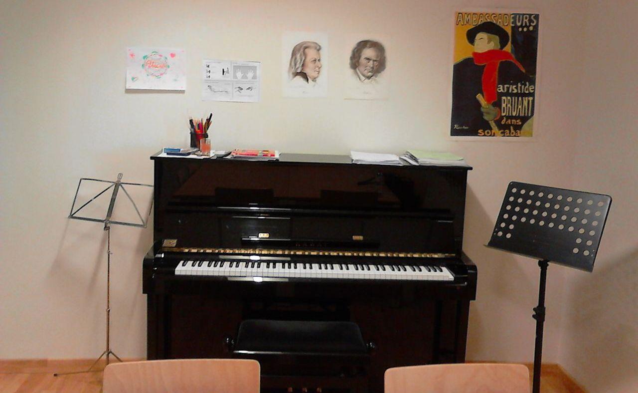 El piano de l'Aula de música